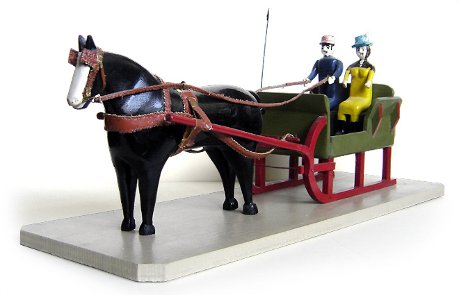 Jules Fontaine Horse and Sleigh